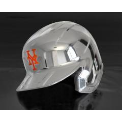 Mets Chrome Authentic Rawlings Replica Batting Helmet