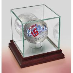 Dustin Pedroia Boston Strong Silver Chrome Baseball & Display Case