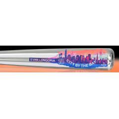 Evan Longoria City by the Bay Silver Chrome Bat